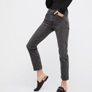 NEW Levi's 505c Cropped Black Denim Jeans 31